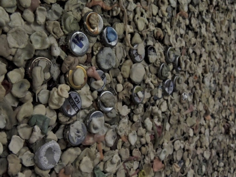 Berlin Wall - Chewing Gum and Bottletops