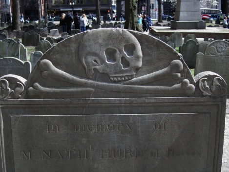 Gravestone in Granary Burial Ground, Boston, MA