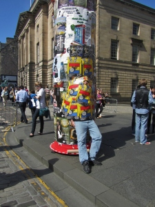 Fringe Festival Performers and Posters -  Royal Mile Edinburgh