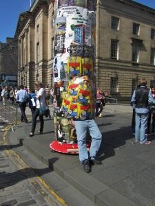 Fringe Festival Performers and Posters -  Royal Mile Edinburgh