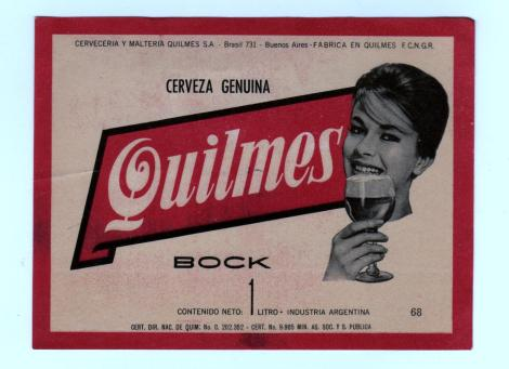 Quilmes vintage beer label