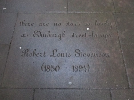 Edinburgh Engraving - Robert Louis Stevenson Quote