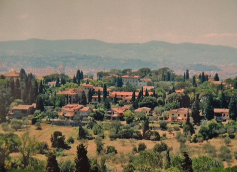 Florence hills around Fiesole in the summer