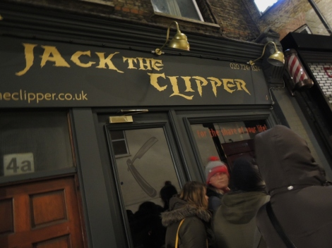 Barbershop in East London called Jack the Clipper
