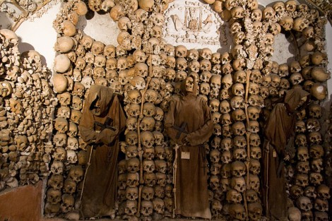 Capuchin Crypt with Monk Skeletons