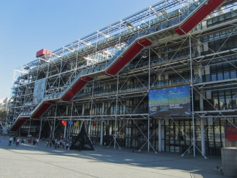 Centre Georges Pompidou - view of the exterior