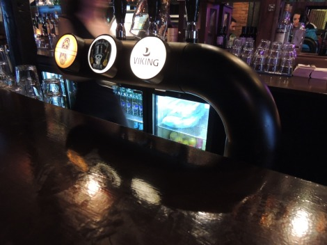 Icelandic beer on tap at the bar in Reykjavik
