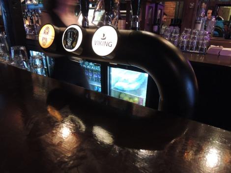 Icelandic beer on tap at the bar in Reykjavik