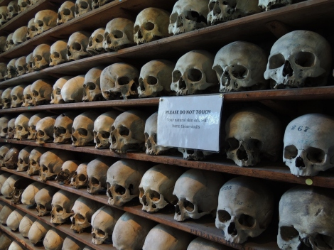 Neat rows of skulls in Hythe, Kent