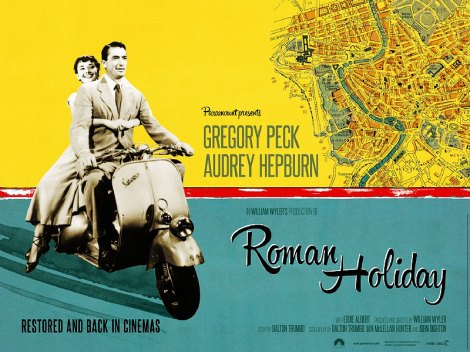 Hepburn and Peck's re-released Roman Holiday.