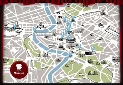 Rome film map
