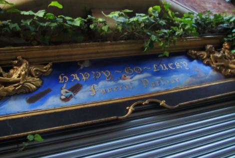 London funeral parlour called Happy-Go-Lucky