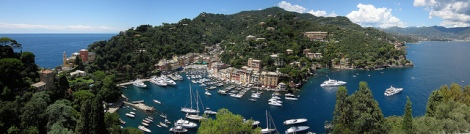 Boats and buildings in the sunshine of Portofino by IK's World Trip