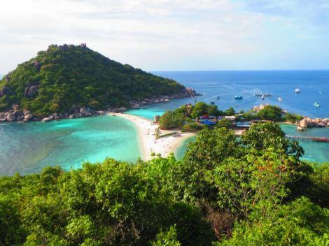 Small eco island just off Koh Tao, Thailand