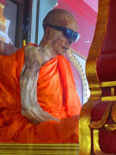 Mummified monk at Wat Khuranam
