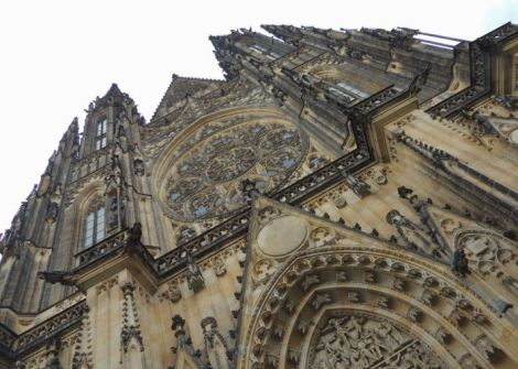Gothic cathedral from below