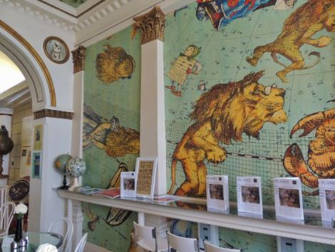Astrological walls with Alice in Wonderland characters