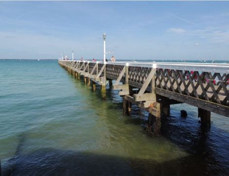 Pier restoration on Isle of Wight