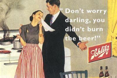 Vintage beer ad. Credit: RFCafe.com