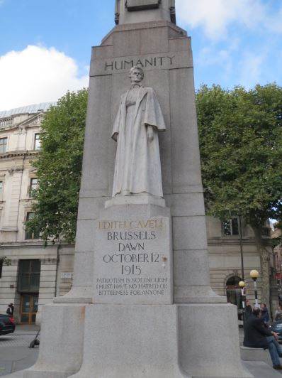 Edith Cavell Statue Front