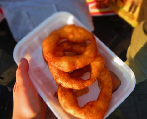 Peru Picarones - fried pumpkin rings with honey