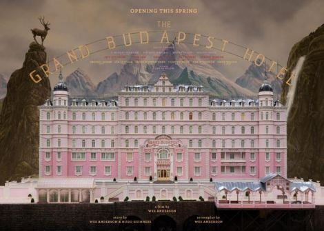Grand Budapest pink hotel building